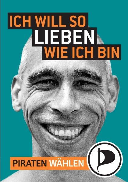 Volker Schröder auf Berliner Wahlplakat der Piratenpartei