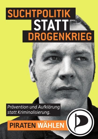 Benjamin Meyer auf Berliner Wahlplakat der Piratenpartei