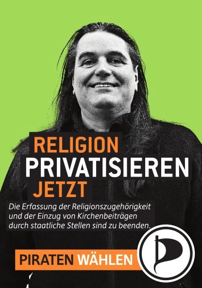Pavel Meyer auf Berliner Wahlplakat der Piratenpartei