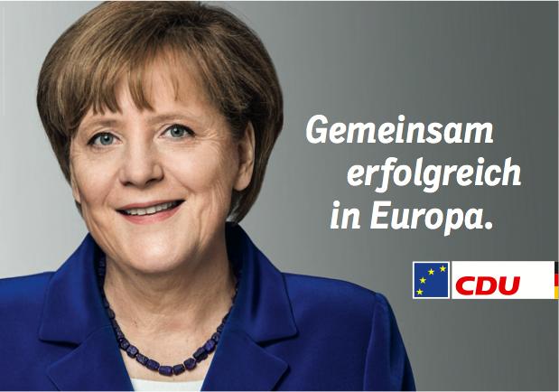 Wahlplakat Angela Merkel Europawahl 2014
