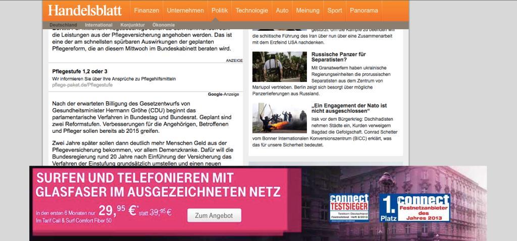 Handelsblatt Ad