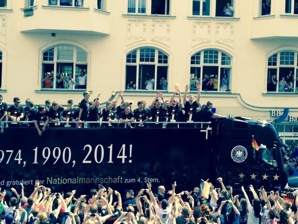 Empfang Fußball-Nationalmannschaft nach Weltmeistertitel in Berlin