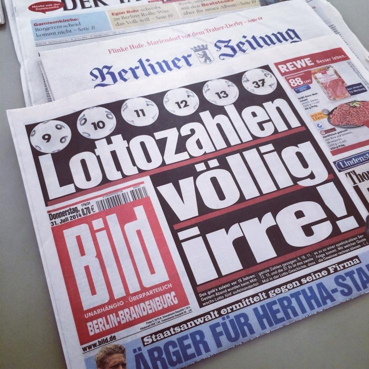 Bildzeitung Lottogewinn