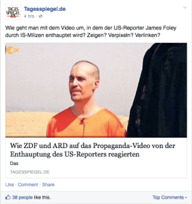 Tagesspiegel Post zu James Foley