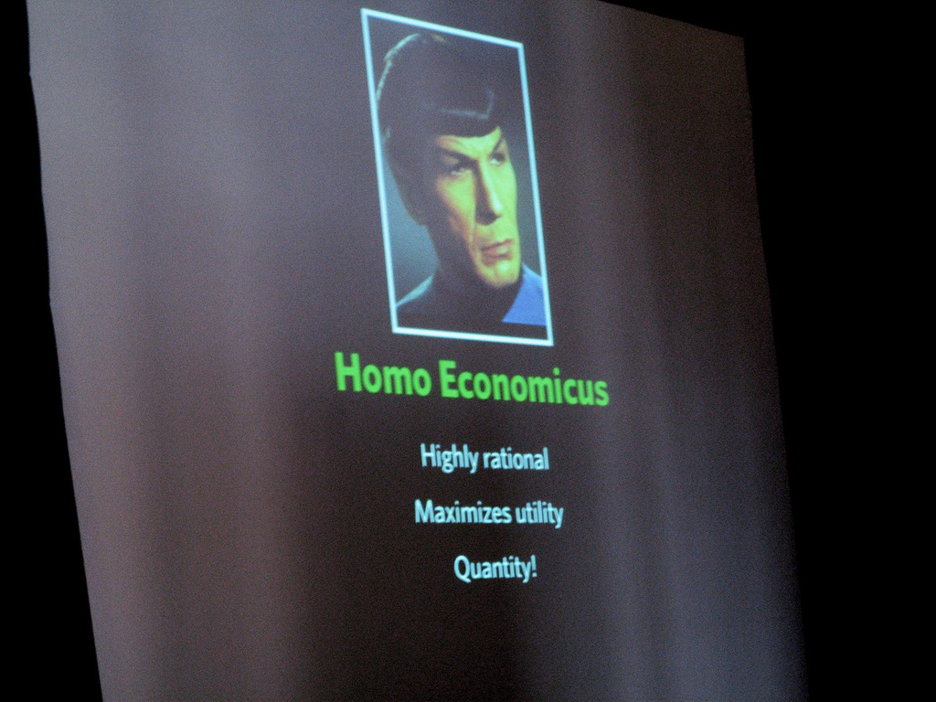 Mr. Spock: The prototype of the homo economicus? // photo: Clay Newton (CC BY-SA 2.0)