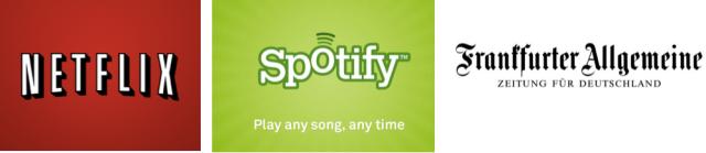 Netflix, Spotify, FAZ