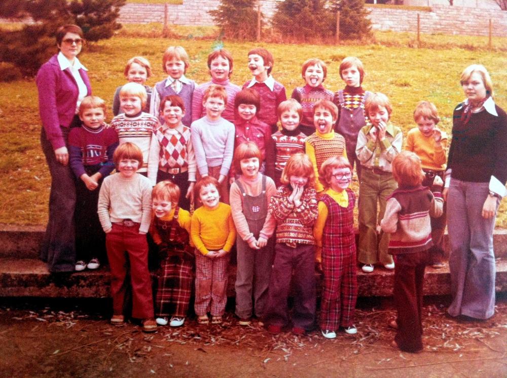Der Pixelökonom streckt die Zunge raus: Kindergartenfoto aus dem Jahre 1976 in Tauberbischofsheim