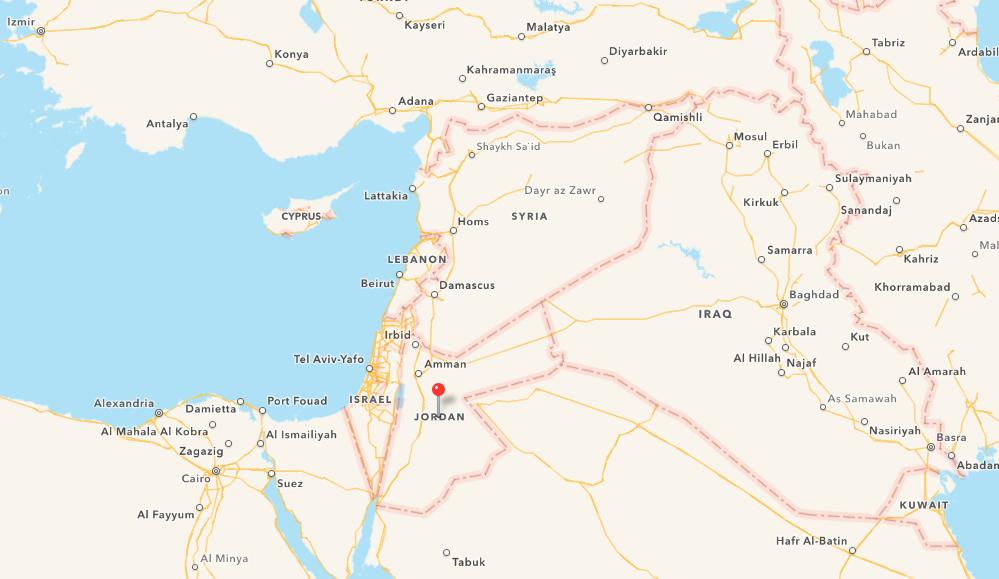 Apple Map Jordanien