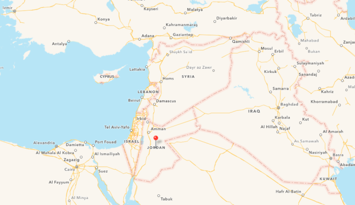Apple Map Jordanien