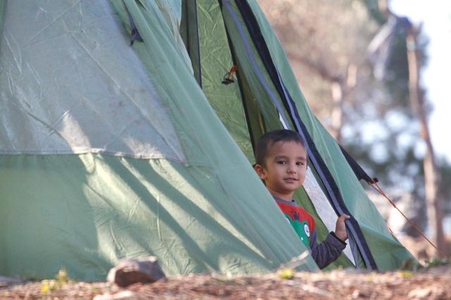 Auf der Suche nach einem besseren Leben: Flüchtlingsjunge in Lesvos, Griechenland. // Foto: Steve Evans (CC BY-NC 2.0)