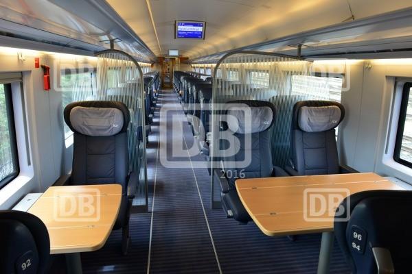 Erste Klasse: Ein Waggon aus dem ICE 3 // Foto: Deutsche Bahn AG